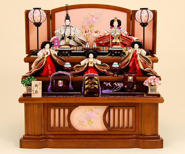 雛人形 K12【ひな人形】【佳月】【かげつ】【佳月オリジナル】【送料無料】【京都西陣帯】【3段飾り】【高級品】K12