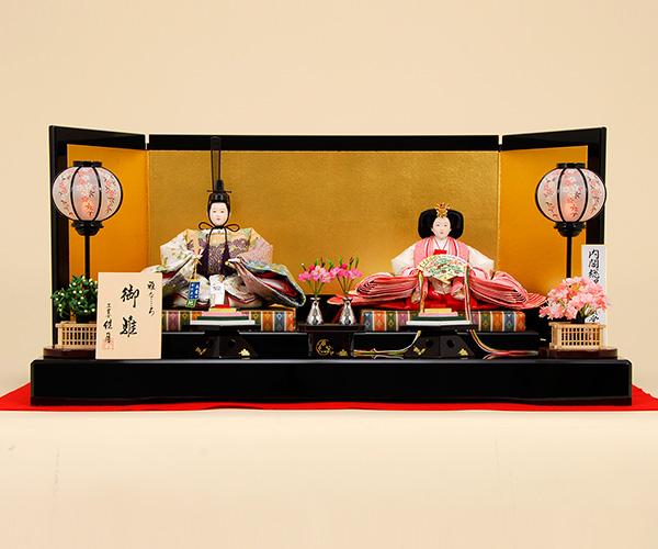 雛人形 K5【ひな人形】【佳月】【かげつ】【佳月オリジナル】【送料無料】【京都西陣帯】【山口美術織物】【平飾り】高級品】K5