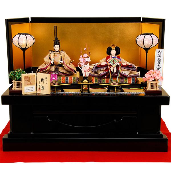雛人形 K1【ひな人形】【佳月】【かげつ】【佳月オリジナル】【送料無料】【京都西陣帯】【高台飾り】【高級品】K1