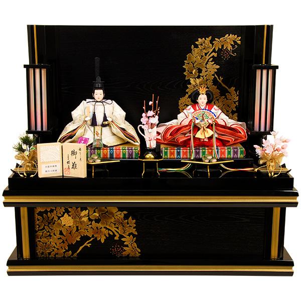 雛人形 ひな人形 K309 京都西陣帯 雛人形 コンパクト収納飾り 親王飾り 名匠・逸品飾り 佳月 かげつ ひな