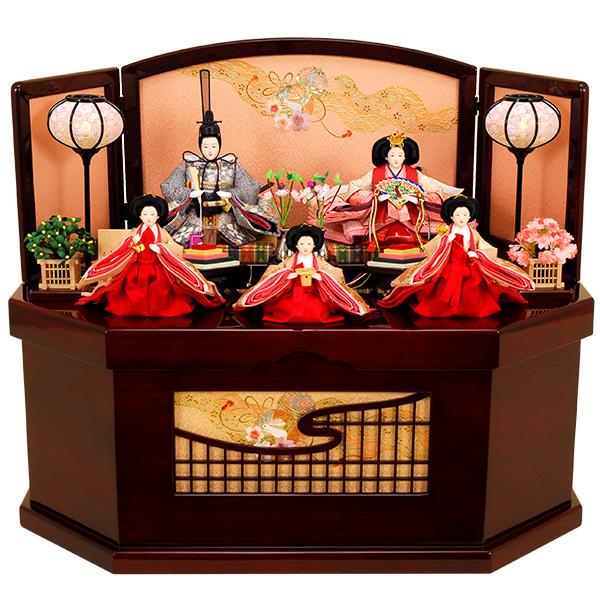 雛人形 ひな人形 K311 コンパクト 雛人形 コンパクト収納飾り 雛 親王飾り 雛 名匠・逸品飾り 佳月 かげつ ひな (2019年度新作雛人形)