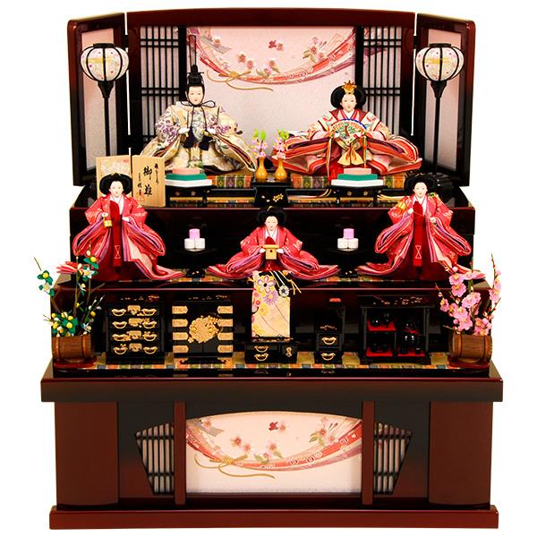 雛人形 ひな人形 K320 コンパクト 雛人形 コンパクト収納飾り 雛 三段飾り 雛 名匠・逸品飾り 人形の佳月 ひな (2019年度新作雛人形)