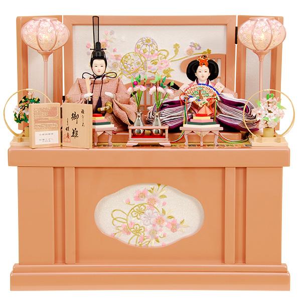 雛人形 ひな人形 K300 コンパクト 京都西陣帯 収納飾り 親王飾り 名匠・逸品飾り 佳月 かげつ ひな 即日発送【2020年新作】