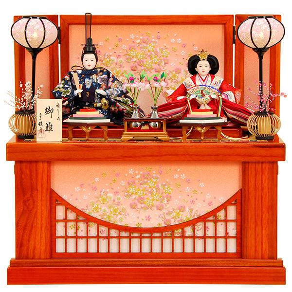 雛人形 ひな人形 K301 雛人形 コンパクト収納飾り 親王飾り 名匠・逸品飾り 佳月 かげつ ひな 即日発送【2020年新作】