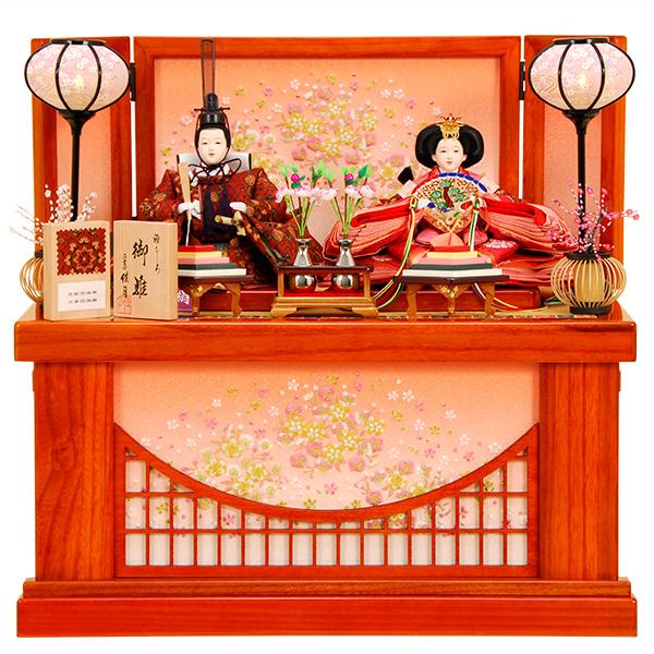 雛人形 ひな人形 K321 京都西陣帯 雛人形 コンパクト収納飾り 親王飾り 名匠・逸品飾り 佳月 かげつ ひな 即日発送 【2020年新作】