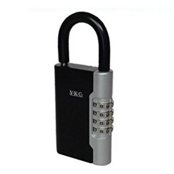 ブランド品 お安くキー保管ボックスをお探しなら 通常のキーで2~3本収納 海や山のアウトドアにも大変便利です 防犯用品 YKC ロックポケット 南京錠型 鍵の保管 吉野金物 LP-600 収納 上品