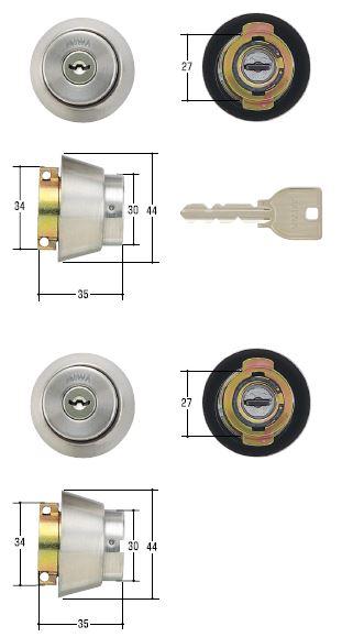 MIWA シリンダー MCY-143 卸直営 美和ロック 鍵 U9シリンダーLA 交換 取替 ST色 2ヶ同一 DA シルバー 新作