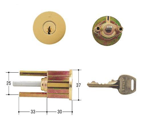 WEST 国内在庫 ウエストの鍵 交換 取替用シリンダー デポー WCY-73 アイカ622S ゴールド 鍵 ウエスト