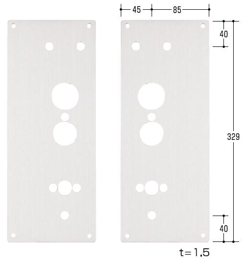 エスカッション MIWA/美和ロック TK4L用偏芯(2枚組)ノブ取付調整部品