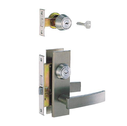 玄関錠【MIWA/美和ロック】【トステム】 TE-01(補助錠)・LE-01LV(本錠)玄関の鍵 取替 交換