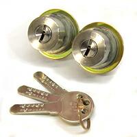 MIWA 鍵 シリンダー 交換用シリンダー WEST 916-TE52 SS 2個同一 MIWA-TE0(LIX)タイプ交換シリンダー シルバー色