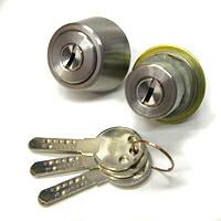 MIWA 鍵 シリンダー 交換用シリンダー WEST 916-TE52/LS23 SS 2個同一 鍵 交換 シリンダー錠 シリンダー 取替え MIWA-TE0(LIX)とLSPタイプ交換シリンダー 2個同一 シルバー色