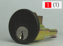 ALPHA 2190 本物 玄関 鍵 カギ ブラック色■標準キー3本付き■ 交換 送料無料でお届けします 取替え用シリンダー従来品