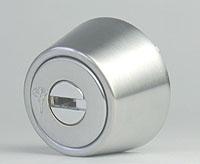 MUL-T-LOCKLZ用 玄関 鍵(カギ) 交換 取替えシリンダー(シルバー色)[ドアの厚み25mm~42mm]■標準キー3本+合鍵1本付き■【送料無料】