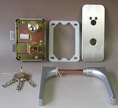 WEST アクト錠 割引も実施中 ファッション通販 ナショナル住宅用の玄関錠一式の取替えレバーハンドルタイプ高性能シリンダー仕様 合鍵1本付き 標準キー3本 送料無料