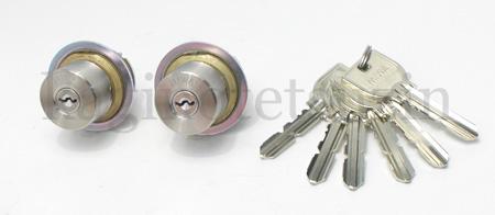有供TOSTEM门口钥匙(钥匙)交换更换使用的MIWA U9汽缸2个一样的键安排■标准的键6条■