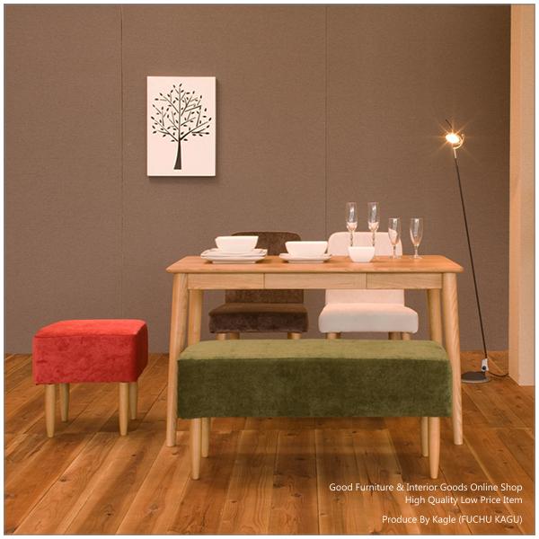 【送料無料】ダイニングセット 食卓セット【115cm木製テーブル+食卓椅子2脚+ベンチ+スツール】 食卓5点セット ダイニング5点set 食卓テーブル 食堂テーブル 食堂椅子 ダイニングテーブル ダイニングチェア