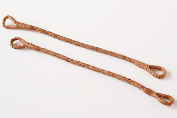 【10組セットお買い得価格】やまぶどう編取手(六つ編み/2本組)(約)長さ38cm (約)直径0.8~1cm
