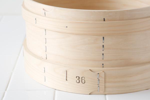 国産桧(ひのき) 和せいろ 36cm(底外径)竹すだれ付き 【本体】【約3升】(料理鍋用)