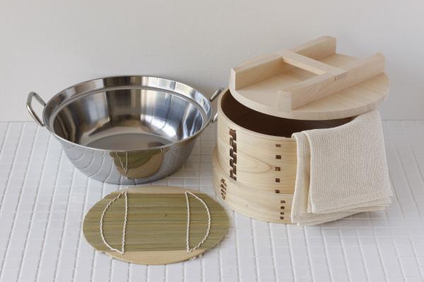 Japanese cypress (hinoki) 和se color 27 cm (diameter) 5 set base diameter 19 cm (approximately)