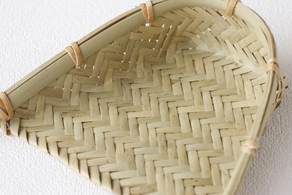 11 bamboo winnow Zal wickerwork weaving (small) (approx.) length × width 11.5 x 3.5 cm