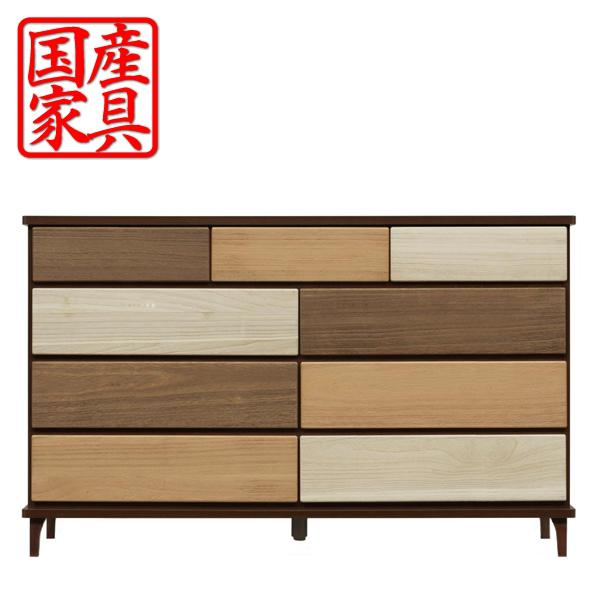 チェスト タンス ローチェスト 幅140 木製 衣類収納 整理たんす 箪笥 収納家具 インテリア 送料無料 通販