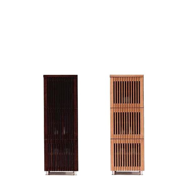 サイドボード 幅45 スリムチェスト キャビネット チェスト 飾り棚 和風 本棚 書棚 ブラウン ナチュラル 送料無料 通販