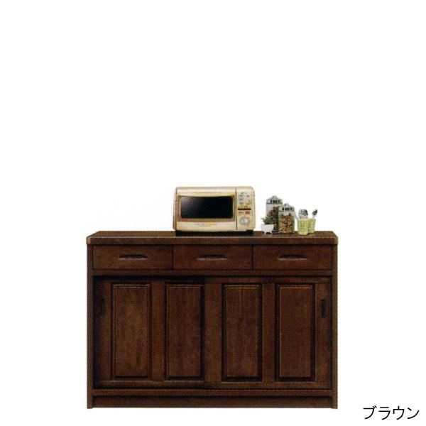 キッチンカウンター 幅120 キッチンワゴン カウンター下収納 完成品 家電収納 キッチン収納 送料無料 通販