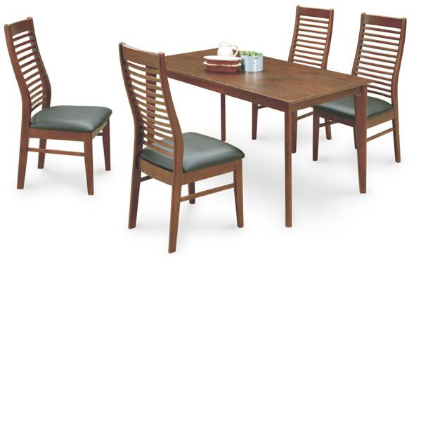 ダイニングテーブルセット 4人掛け テーブル幅135cm ダイニングテーブル x1 ダイニングチェア x4 5点セット 食卓テーブルセット カラー等 ブラウン 北欧 シンプル モダン 材質 オーク突板 座面 PVC アウトレット価格並 送料無料 通販