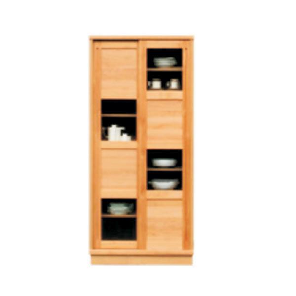 ダイニングボード 食器棚 カップボード 食器台 キッチンボード キッチン収納 木製 幅80cm 北欧 シンプル モダン【幅80x奥行き44高さ175cm】アウトレット価格並 大川家具 送料無料