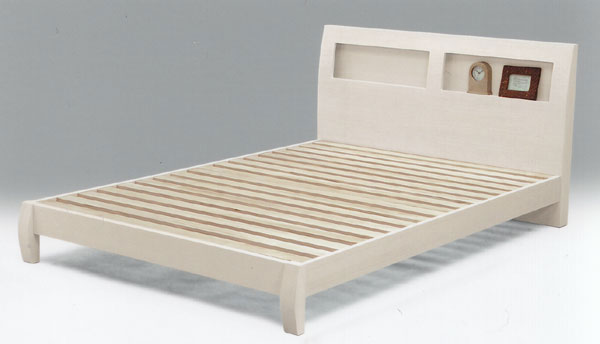 ベッド セミダブルベット ローベット ロータイプ ベット すのこタイプ セミダブルベッド すのこベッド 白色 スノコベット ローベッド ホワイト SDベッド 【送料無料】 北欧