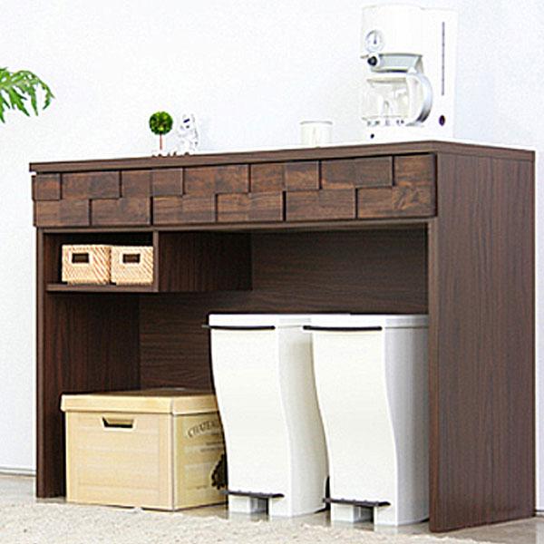 キッチンカウンター カウンター 幅120 レンジ台 カウンター下収納 完成品 和風 家電収納 キッチン収納 送料無料
