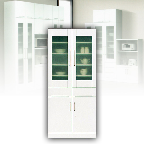 80 ダイニングボード 食器棚 ホワイト カップボード 白 キャビネット 【送料無料】 北欧