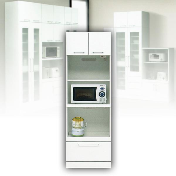 ハイタイプ レンジ台 レンジボード 60 キッチン収納庫 ホワイト オープンボード 白 食器棚 【送料無料】 北欧