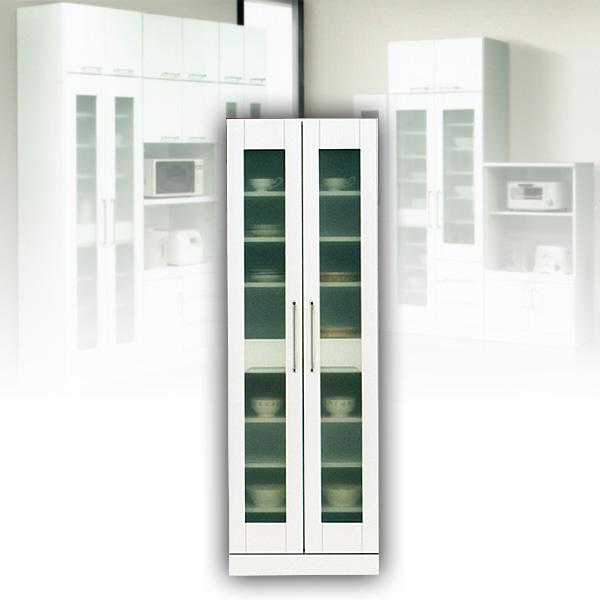 60 食器棚 キッチン収納庫 ホワイト 白 カップボード 水屋 【送料無料】 北欧