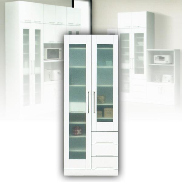 食器棚 マルチボード 70 ホワイト カップボード 白 フリーボード 【送料無料】 北欧