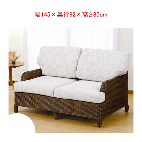 Wicker furniture (rattan) cane sofa two seat SH43 IMY142B (rattan furniture  / Ratan sofa / couch / sofa 2 seater / settee / couch / upholstered /