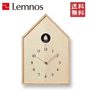 【正規品/1年間保証付】Lemnos/レムノス バードハウス クロック ナチュラル NY16-12 NT(壁掛け時計/鳩時計/カッコー時計)(音量2段階調整/ライトセンサー機能付/天然木)【送料無料】