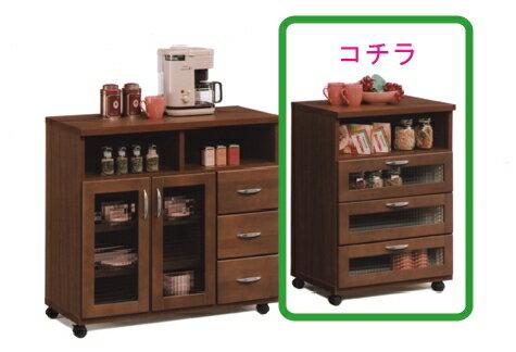 【送料無料】キッチン収納 キッチンカウンター 収納棚台所収納 食器棚 レンジ棚 レンジ収納VA60カウンター(BR)