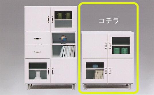 【送料無料】キッチン収納 キッチンカウンター 収納棚台所収納 食器棚 レンジ棚 レンジ収納TRS80キャビネット(L)