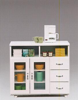 【送料無料】キッチン収納 キッチンカウンター 収納棚台所収納 食器棚 レンジ棚 レンジ収納TRS90Kカウンター