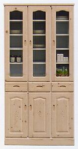 【送料無料】【開梱設置無料】食器棚 収納棚 食器収納 キッチン収納台所収納 すき間収納 レンジ収納 レンジボード一人暮らし 新生活TB90食器棚(WHとNAの2色対応)