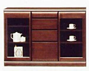 【送料無料】リビング収納 小物収納 書棚 食器棚本棚 ブックシェルフ ブックボード 食器収納サイドボード キャビネット コレクションボードシンビジューム120サイドボード