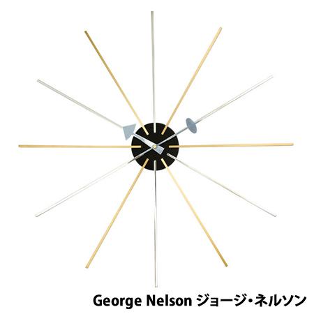 【代引不可】ジョージネルソン ネルソンクロック スタークロック ミッドセンチュリー デザイナーズ リプロダクト 時計 クロック