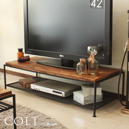 TVボード TV台 『 COLT コルト TVボード 』 テレビボード テレビ台 AVボード 古木風 無垢 木製 アイアン