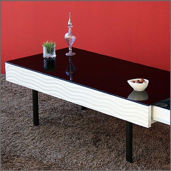 【テーブル】【幅105cm】リビングテーブル センターテーブル ガラステーブル ローテーブル サイドテーブル コーヒーテーブル 木製テーブル フロアテーブル デザインテーブル 小物収納 多機能 収納付 強化ガラス