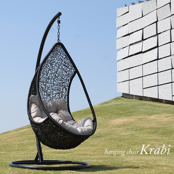 Medium image of one black hanging chair hammock swing lutecia tear drop deck chair bubble chair ratanchair basket