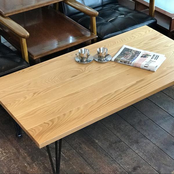 センターテーブル アイアン ローテーブル 120cm オーク ナチュラル 古木風 ビンテージ インダストリアル アメリカン 西海岸 ブラックアイアン