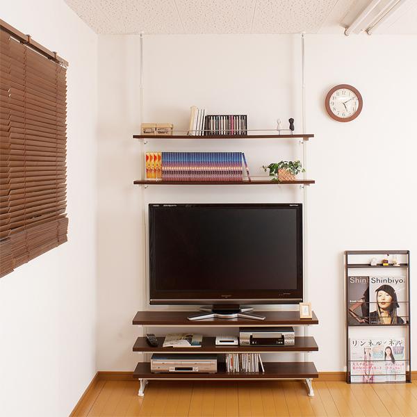 突っ張り式テレビボード テレビラック 省スペース薄型テレビ台 幅120 送料無料