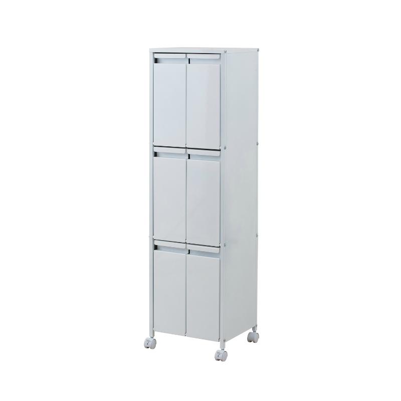 ゴミ箱 ダストBOX キッチン スチール製 ホワイト 分別ごみ箱  ダストボックス ごみ箱 分別 スチール製 9リットルタイプ 6分別